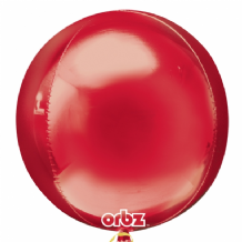 "Red Orbz Balloon (15"") 1pc"